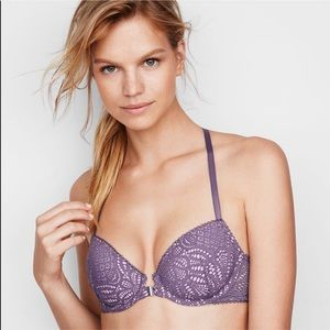 🆕 Victoria's Secret Purple PaddedDemi Bra, 32DD